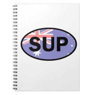 Standup Paddleboard Australia Flag Notebooks