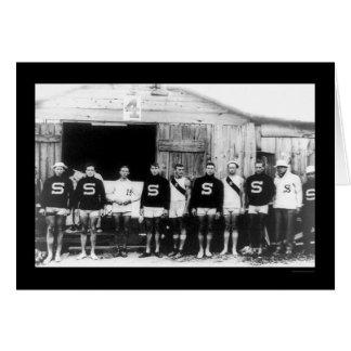 Stanford Varsity Rowing Crew 1912 Card