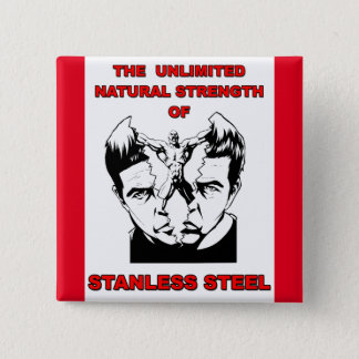 Stanless Steel 15 Cm Square Badge