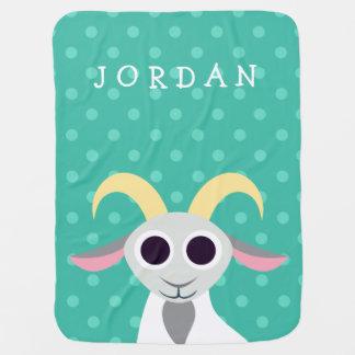 Stanley the Goat Baby Blanket