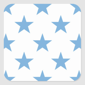 Star 1 Placid Blue Square Sticker