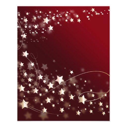 star-427749 DIGITAL RED WHITE SHINY STAR STARRY SK Full Color Flyer