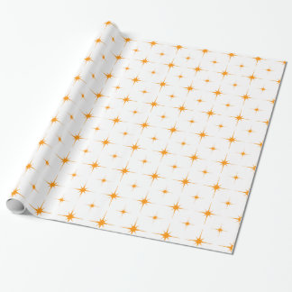 Star 6 Orange Wrapping Paper