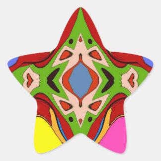 Star Abstract Star Sticker