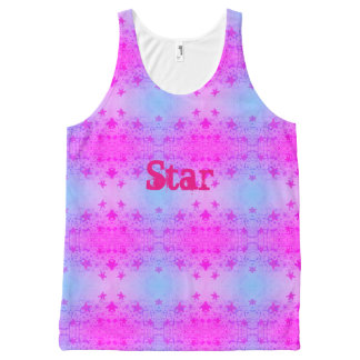 Star All-Over Print Singlet