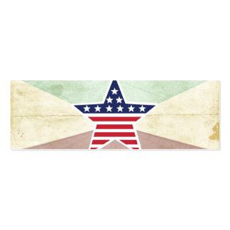 Star American Flag on Vintage Background Business Card