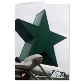 star and chrome greeting card