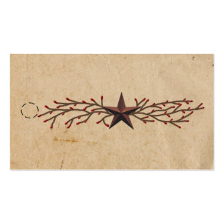 Star And Pip Berry Hang Tag Pack Of Standard Business Cards
