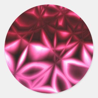 Star Anise Magenta Classic Round Sticker