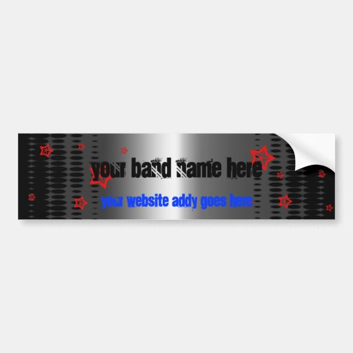 star band template bumper stickers