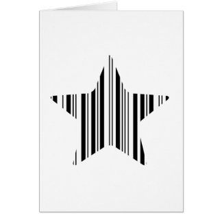 STAR BAR CODE Stellar Barcode Pattern Design Card