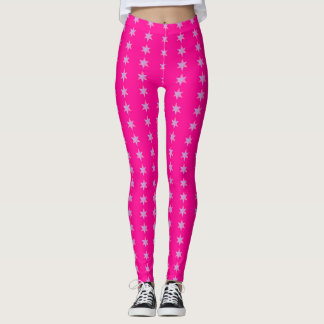 Star Bars Magenta Leggings