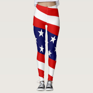 Star & Bars:  US Flags Leggings