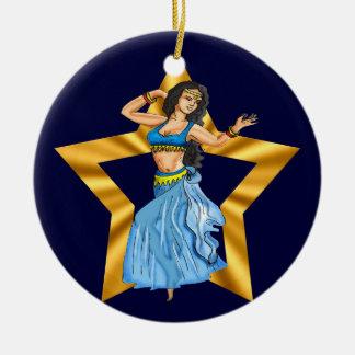 Star Belly Dancing Girl Ceramic Ornament