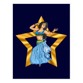 Star Belly Dancing Girl Postcard