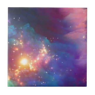 Star birth ceramic tile