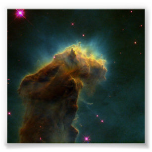 Star-Birth Clouds in M16- Stellar Eggs Emerge from Poster