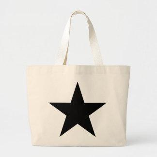 Star (black) / Jumbo Tote Bag
