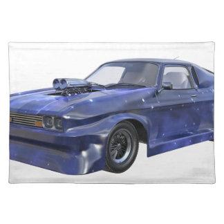 Star Blue Racing Car Placemat