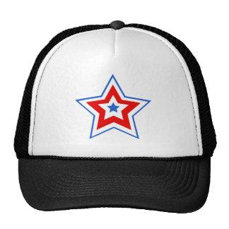 Star blue red trucker hats
