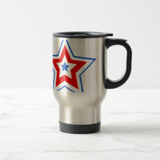 Star blue red coffee mug