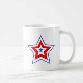 Star blue red mugs