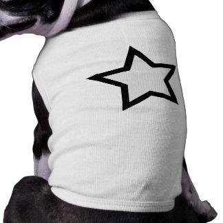 Star - Bold B&W Dog T Shirt