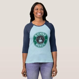 Star Bonne Merde womens raglan T-Shirt