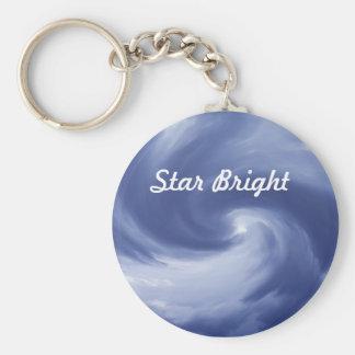 Star Bright Basic Round Button Key Ring