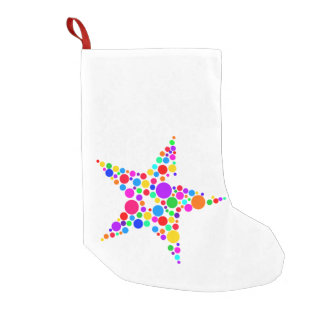 Star Bright Rainbow and White Christmas Stocking