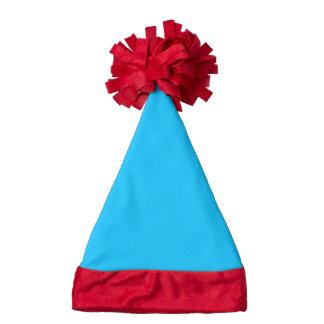 Star Bright Rainbow Blue Christmas Santa hat