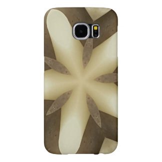 Star Brown White Rustic Design Colors Samsung Galaxy S6 Cases