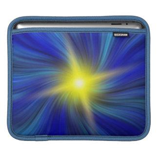 Star Burst in a Swirling Blue Vortex iPad Sleeve