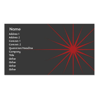 Star - Business Pack Of Standard Business Cards