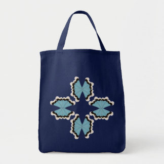 Star Butterflies / Tile Art Tote Bag
