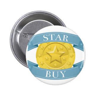 Star buy gold and blue award medal pins
