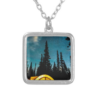 Star Camping Silver Plated Necklace