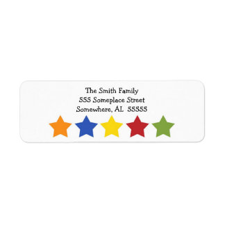 Star Celebrations Return Address Label