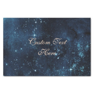 Star Celestial Galaxy Watercolor Custom Wedding Tissue Paper