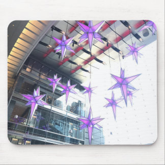 Star Christmas Decorations Columbus Circle NYC Mouse Pad