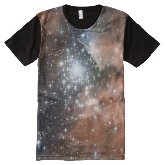 Star Cluster Men's All-Over Printed Panel T-Shirt