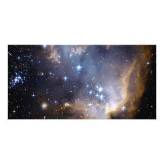 Star Cluster N90 Hubble Space Custom Photo Card