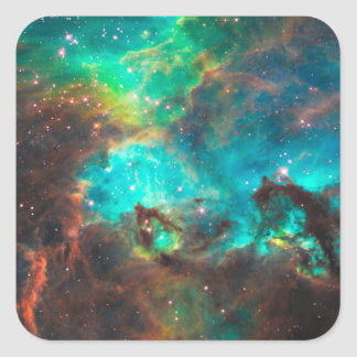 Star Cluster NGC 2074 Square Sticker
