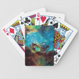 Star Cluster NGC 2074 Tarantula Nebula Space Photo Bicycle Playing Cards