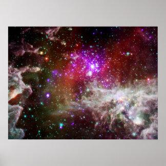 Star Cluster NGC 281 Pacman Nebula Poster