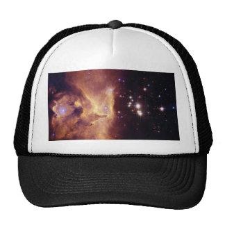 Star Cluster Pismis 24 in Emission Nebula NGC 6357 Hats