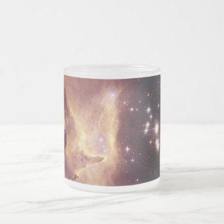 Star Cluster Pismis 24 in Emission Nebula NGC 6357 Frosted Glass Mug
