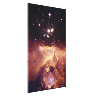 Star Cluster Pismis 24 in Emission Nebula NGC 6357 Stretched Canvas Print
