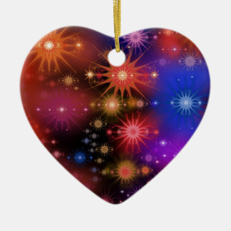 Star Clusters Ceramic Heart Decoration
