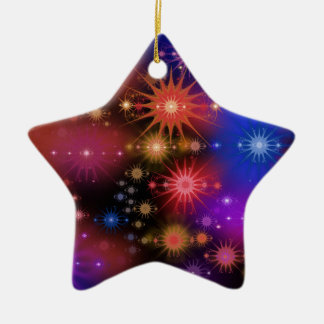 Star Clusters Ceramic Ornament